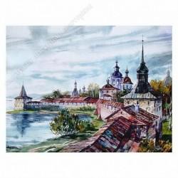 Картина на подрамнике, 22х30, Кт-51, Кирилло-Белозерский м-рь, худ. не известен