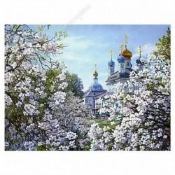 Картина на подрамнике, 22х30, Кт-55, Весна, худ. Л Руднев