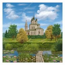 Картина на подрамнике, 25х25, Кт-72, Суздаль, худ. Виктор Z.