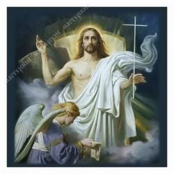 Картина на подрамнике, 25х25, Кт-74, Воскресение Христово, худ. Д. Хомяков