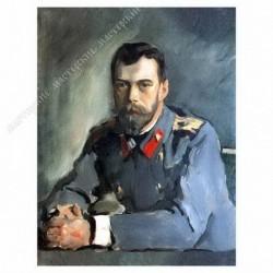 Картина на подрамнике, 30х40, Кт-20, Портрет императора Николая II. 1900, худ. В. Серов