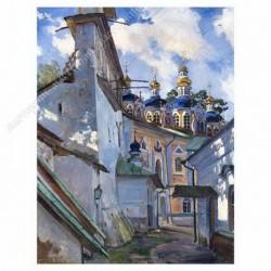 Картина на подрамнике, 30х40, Кт-24, Псково-Печерский монастырь, худ. С. Виноградов