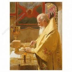 Картина на подрамнике, 30х40, Кт-27, Патриарх Алексий ..., худ. Д. Белюкин